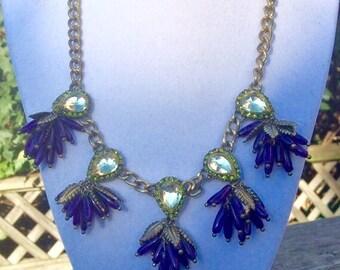 Funky Purple Bead Necklace