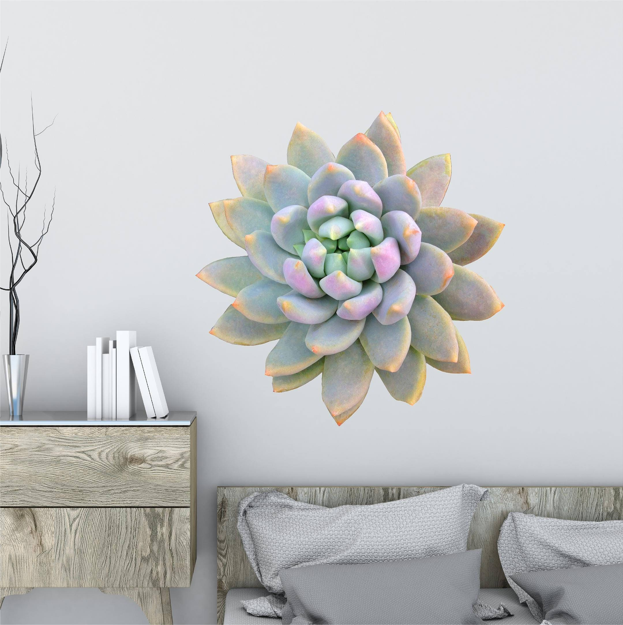 Succulent Wall Decal Succulent 2 Flower Wall Decal