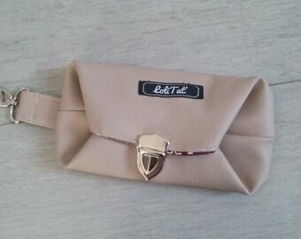 Oddments of bag: matching reversible Uzbek purse bag