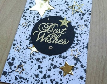Best wishes greeting card, birthday card