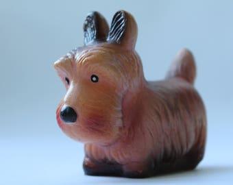 Soviet Rubber Dog. Soviet Toy. Vintage Toy. Soviet animals. toy.  USSR. Soviet.  Dog.