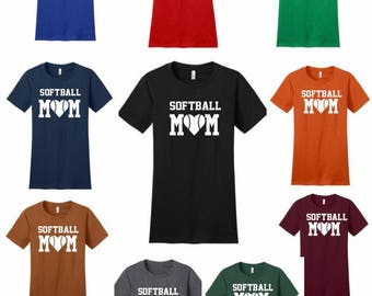 FREE SHIPPING Softball Mom tee in your team's color!