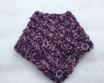Purple blend winter cowl scarf