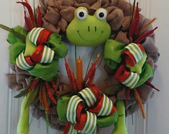 Froggy Fun Wreath