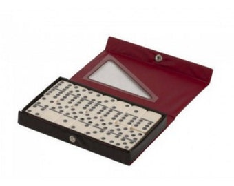Double 6 Professional Size Engraved Dominoes in Vinyl Case