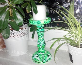 Dragon candle holder green - dragon candle holders Green