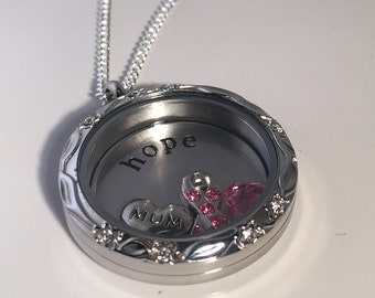 Breast Cancer Gifts, Breast Cancer Jewelry, Cancer Survivor Gift, Cancer Gifts, Cancer Jewelry, Hope Necklace, Breast Cancer