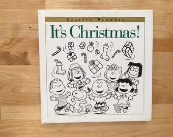 Festive Peanuts It's Christmas by Schulz book, Peanuts Christmas, Charlie Brown, Snoopy Stocking Stuffer, Lucy, Peanuts Comic Strip Gift