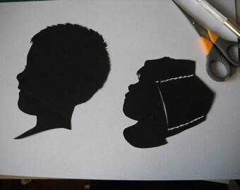 custom silhouette portraits