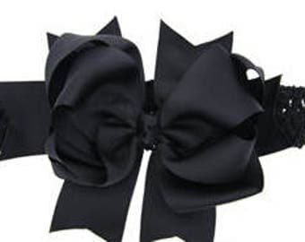 7.5 inch Bow with Removable Headband