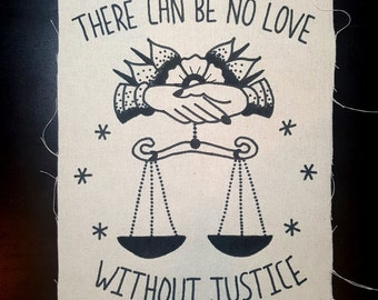 Bell Hooks Back Patch There Can Be No Love Without Justice Backpatch