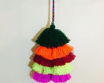 Tassels pompoms colorful handmade perfect keychains car decoration bag totes tassels you choose