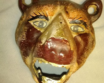 Bear Face Cast Iron Bottle Opener