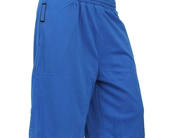 RD MESH Shorts Basketball Gym Pants Jersey Soft Running Fitness REVERSIBLE_Royal Blue