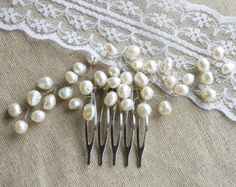 Pearl Hair Comb, Pearl Headpiece, Bridal Headpiece, Bridal Hair Piece, Wedding Pearl Comb, Pearl Hairpiece, Pearl Hair Jewelry, Bridal Comb