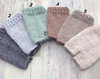 Knit newborn shorts, Baby shorts, Ready to ship, Handmade, Photoprop