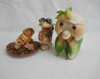 Shell Animals Trio 2 Vintage Gorgeous