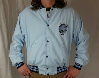 1998 Vintage Golf Jacket Windbreaker • Size XL • Retro Jacket • 90s Sportswear • Vintage Jacket • Country Club Letterman Jacket • Golf Coat