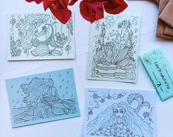 "PostCards ""Mermaid"""