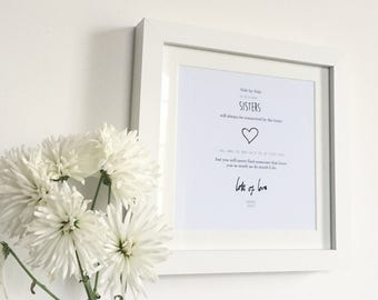 Sister Personalised Frame