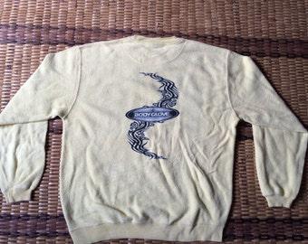Vintage 90's Body Glove Sport Classic Design Skate Sweat Shirt Sweater Varsity Jacket Size M #A601