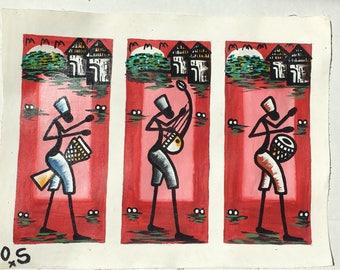 Original hand painted contemporary African artwork