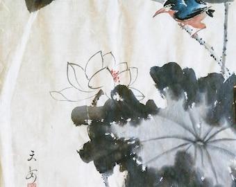 Lotus and bird
