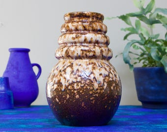 Scheurich 269-22: Fat Lava Era West German Pottery Wien/Vienna Vase by A. Seide - UK Seller