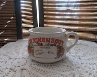 Retro Chicken Soup Cup