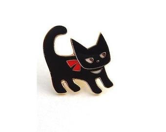 Cat Enamel Pin, Lapel Pin, Cat Pin Badge, Cat Lover Gift