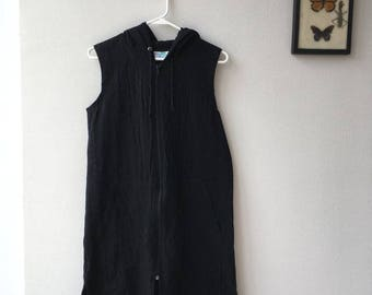 90s Black Shift Dress