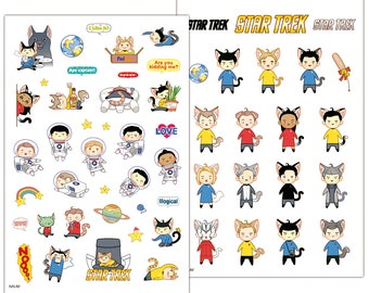 STAR TREK stickers! (Cat)