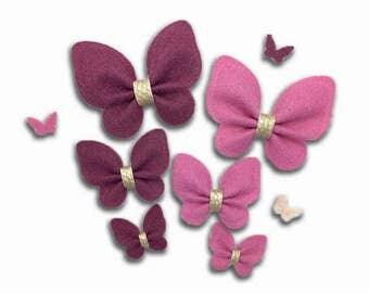 Felt Butterfly, DIY felt Butterflies, DIY Supply, Headband Hair Clip Supplies.