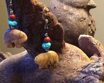 Canada Wildlife, Bear Jewelry, Canada Day, Turquoise Blue, Mother Jewelry, Mama Bear, Earth Day, World Environment Day, Canada 150 Birthday
