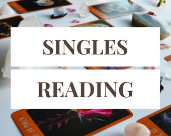 Singles Reading -- 9 Card Tarot Reading + Two Free Follow Up Cards -- Single and Ready to Mingle -- Photo of Spread Included