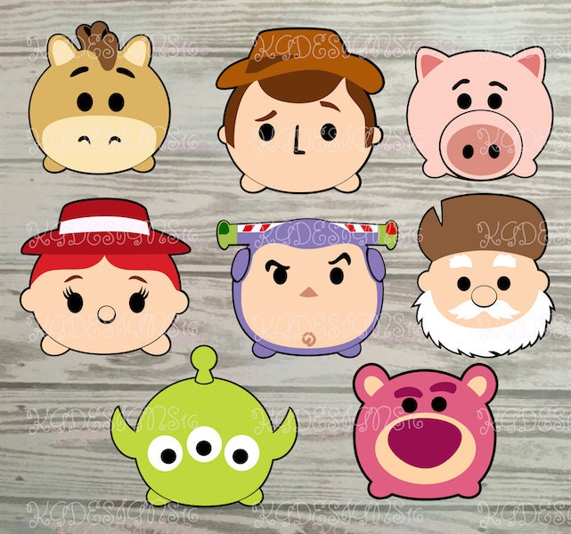 Toy Story Tsum Tsum Characters-FULL COLOR-Vinyl