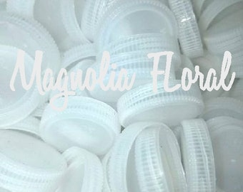 100 plastic bottle caps, white clear craft diy recycle caps Lids Tops upcycled Clean! Bottle caps school supplies art supplies