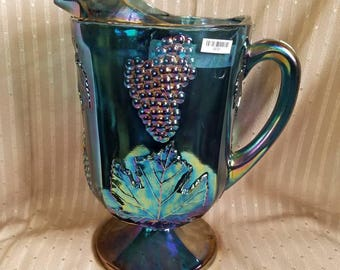 Carnival Glass Pitcher