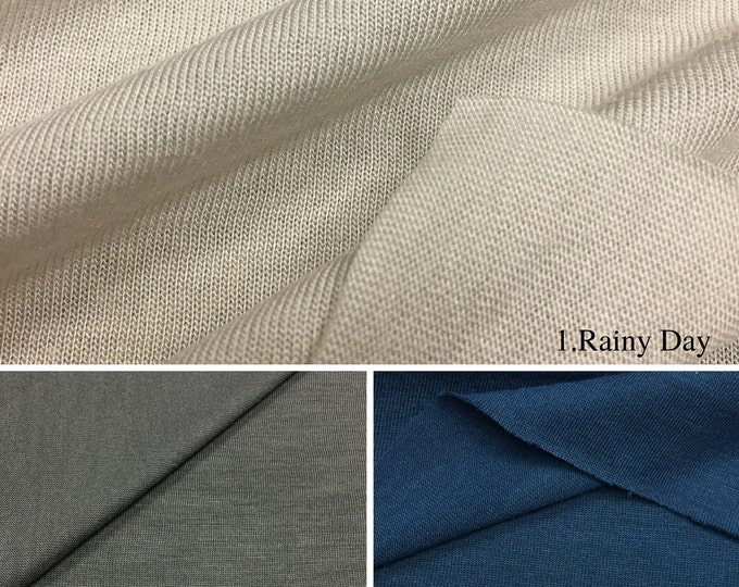 100% Modal Jersey T-shirt/Tank Fabric (Wholesale Price Available by the Bolt) - 2530M - USA Made Premium Quality - 1 Yard