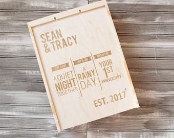 Engraved Wine Box | Wedding Wine Box | Personalized Wine Box | Custom Wine Box | Wedding Shower | Wedding Gift | Anniversary Gift