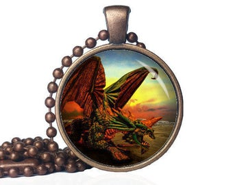 Dragon Guardian - Winged Dragon - Dragon Pendant - Dragon Jewelry - Mythical Jewelry - Dragon Gift - Dragon