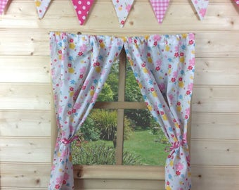 Summer Floral Playhouse Curtains