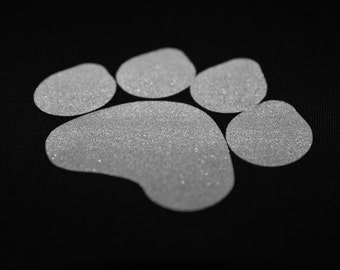 Paw Print Reflective Iron-On - DIY Heat Transfer Vinyl //gifts for kids, iron-on patch, reflective patch, paw print, kids clothing //