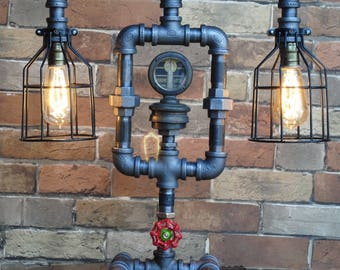 Glowlight radiator cap Industrial Pipe Lamp