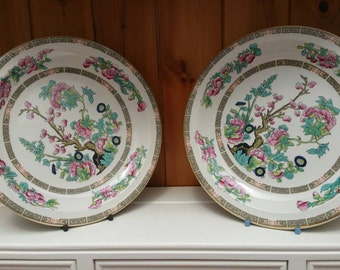 Vintage Indian Tree plates/ salad plates/ dessert plates /English tableware/set of 6/