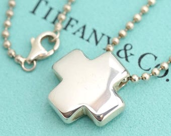 Wonderful Authentic Tiffany & Co. Sterling Silver Roman Cross from Italy