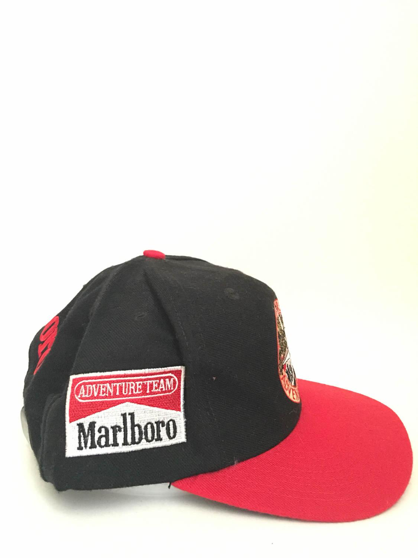 30ffee0aabb 1990s MARLBORO ADVENTURE TEAM Patch Vintage SnapBack Hat ...