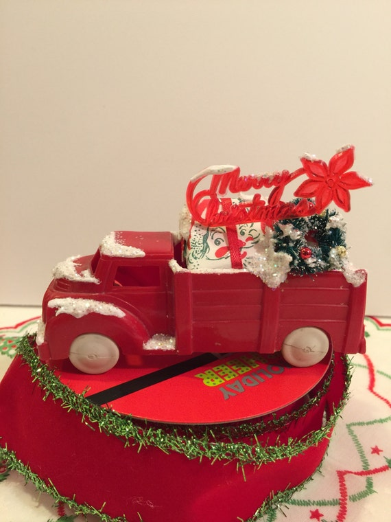 Vintage Toy Truck Christmas Tree Holiday 1940s 50s Lapin