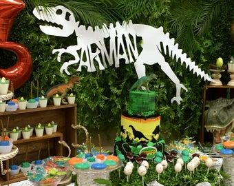 Dinosaur Birthday Party/ T-Rex Party/Birthday Banner/Bones Banner/Dinosaur Banner