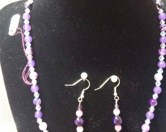 """19.5"""" Alexan Orite necklace and earring set."""